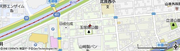 愛知県名古屋市西区玉池町周辺の地図