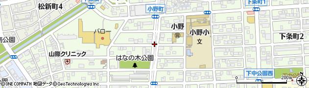 愛知県春日井市小野町周辺の地図