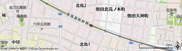 愛知県稲沢市北島町(天神前)周辺の地図