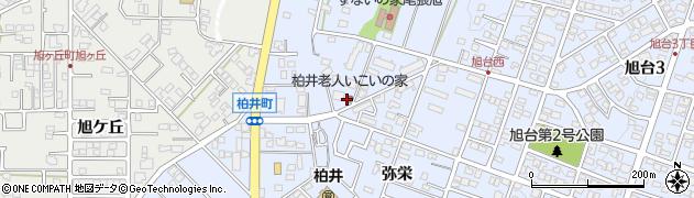 愛知県尾張旭市柏井町周辺の地図