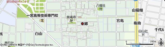 愛知県稲沢市堀之内町(東郷)周辺の地図