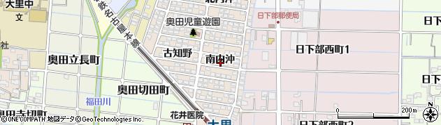 愛知県稲沢市奥田町(南内沖)周辺の地図