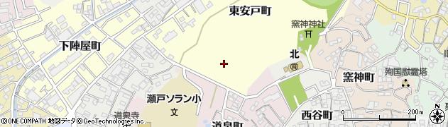 愛知県瀬戸市東安戸町周辺の地図