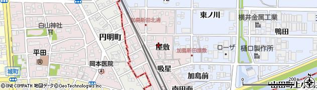 愛知県北名古屋市加島新田(屋敷)周辺の地図