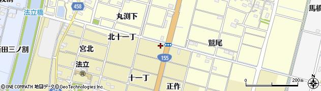 愛知県稲沢市平和町法立(東十一丁)周辺の地図