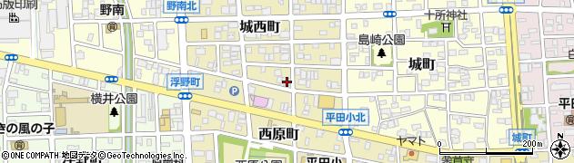 愛知県名古屋市西区城西町周辺の地図
