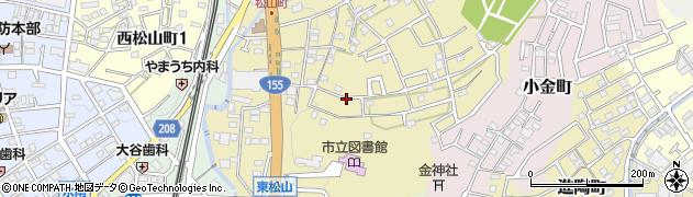 愛知県瀬戸市東松山町周辺の地図