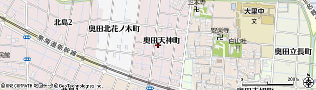 愛知県稲沢市奥田天神町周辺の地図