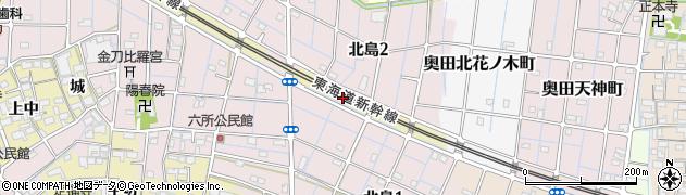 愛知県稲沢市北島町(天神西)周辺の地図