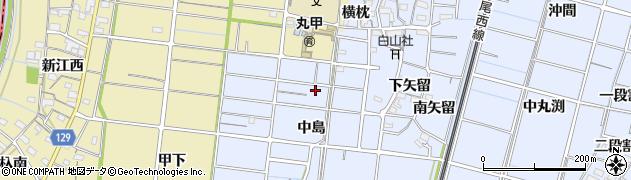 愛知県稲沢市祖父江町三丸渕(中島)周辺の地図