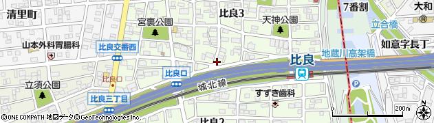 愛知県名古屋市西区比良周辺の地図