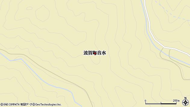 〒671-4211 兵庫県宍粟市波賀町音水の地図