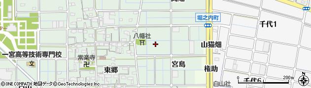 愛知県稲沢市堀之内町(宮島)周辺の地図