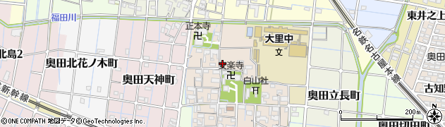 愛知県稲沢市奥田町(寺切)周辺の地図