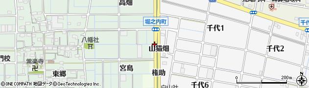 愛知県稲沢市千代町(戌亥出)周辺の地図