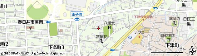 愛知県春日井市下条町周辺の地図