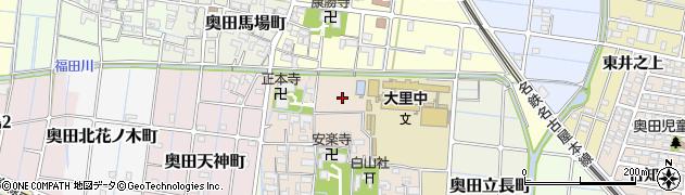 愛知県稲沢市奥田町(北円蔵坊)周辺の地図
