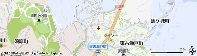 愛知県瀬戸市西古瀬戸町周辺の地図