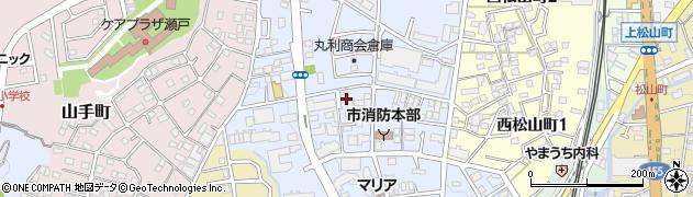 愛知県瀬戸市苗場町周辺の地図