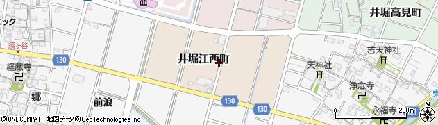 愛知県稲沢市井堀江西町周辺の地図