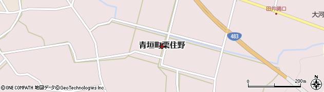 兵庫県丹波市青垣町栗住野周辺の地図