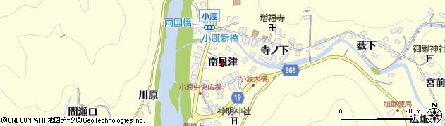 愛知県豊田市小渡町(南貝津)周辺の地図