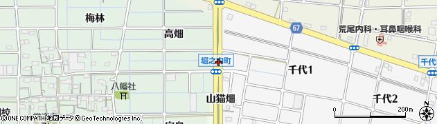 愛知県稲沢市堀之内町(琵琶戸)周辺の地図