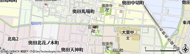 愛知県稲沢市奥田町(中切前)周辺の地図