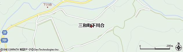 京都府福知山市三和町下川合周辺の地図