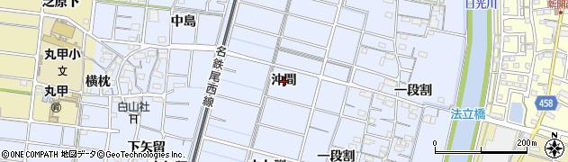 愛知県稲沢市祖父江町三丸渕(沖間)周辺の地図