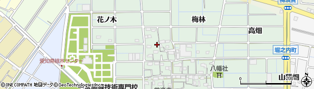 愛知県稲沢市堀之内町(大門)周辺の地図