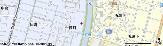 愛知県稲沢市祖父江町三丸渕(新田四ノ割)周辺の地図