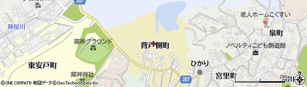 愛知県瀬戸市背戸側町周辺の地図
