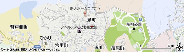 愛知県瀬戸市泉町周辺の地図