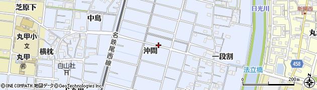 愛知県稲沢市祖父江町三丸渕周辺の地図