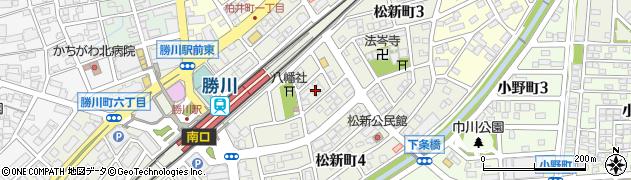 愛知県春日井市松新町周辺の地図