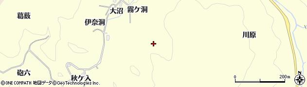 愛知県豊田市三箇町(霧ケ洞)周辺の地図