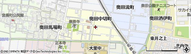 愛知県稲沢市奥田中切町周辺の地図