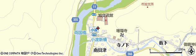 愛知県豊田市小渡町(船戸)周辺の地図