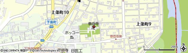 泰岳寺周辺の地図