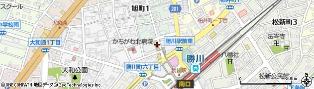 勝川カフェmon周辺の地図