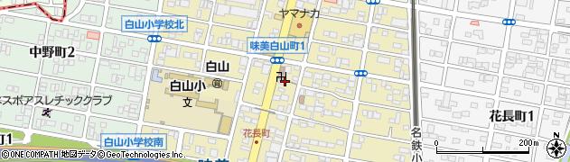 愛知県春日井市味美白山町周辺の地図