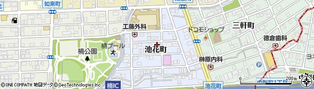 愛知県名古屋市北区池花町周辺の地図