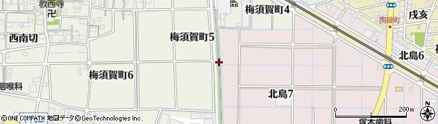 愛知県稲沢市北島町(菅田)周辺の地図