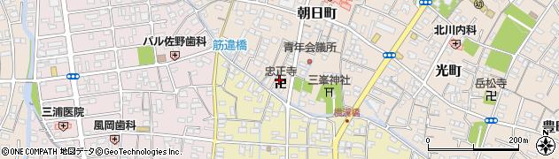 忠正寺周辺の地図