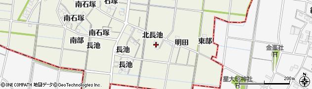 愛知県稲沢市祖父江町島本(北長池)周辺の地図