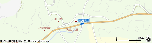 愛知県豊田市小原町(平田)周辺の地図
