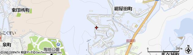 愛知県瀬戸市紺屋田町周辺の地図