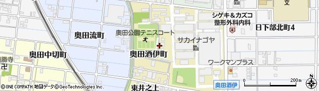 愛知県稲沢市奥田酒伊町周辺の地図