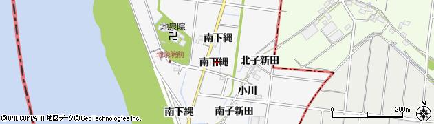 愛知県稲沢市祖父江町神明津(南下縄)周辺の地図